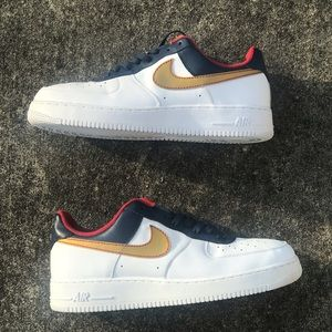 NIKE Air Force 1 Olympic Gold Charles Barkley RARE